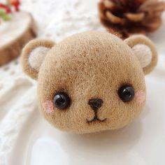 Needle Felted Felting Animals Brown Bear Cute Craft | Feltify