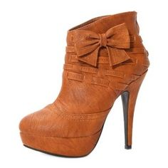 Ankle Boots With Bowknot