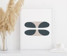 This printable wall art makes the perfect addition to your home decor or office decor. Simple lines and shapes of this mid century modern art catch your eye and make a striking centerpiece or addition to your gallery wall. The striking colors and abstract shapes of this oversized art mid century Geometric Wall Art, Colorful Wall Art, Abstract Wall Art, Wall Art Sets, Large Wall Art, Wall Art Prints, Minimalist Decor, Modern Minimalist, Mid Century Modern Art