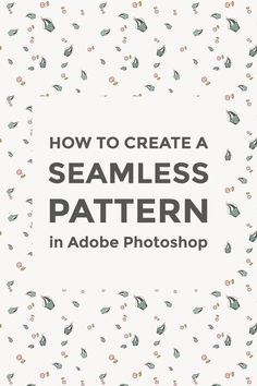 Graphic Design - Pattern Design Inspiration - How to make a seamless pattern in Photoshop Pattern Design : – Picture : – Description How to make a seamless pattern in Photoshop -Read More – Adobe Photoshop, Best Photoshop Actions, Photoshop Tutorial, Lightroom, Photoshop Website, Advanced Photoshop, Adobe Indesign, Web Design, Graphic Design Tutorials