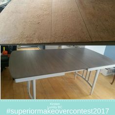 Dining table makeover using Superior Paint Co. Antique White and Saman Iron Earth Dining Table Makeover, Spice Things Up, Iron, Earth, Paint, Antiques, Furniture, Home Decor, Antiquities