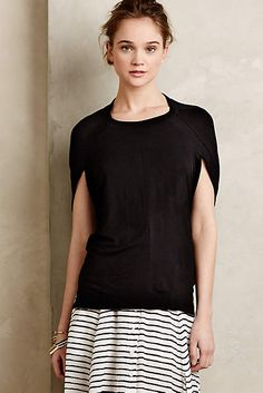 Unique detail covers the trouble areas of the upper arms. Ensconced Tunic - anthropologie.com