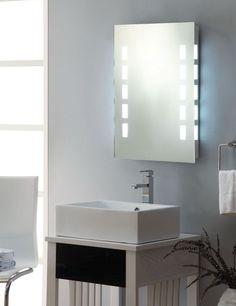 Bathroom Modern Bathroom Mirror Ideas Made In Form Medicine Cabinet And Gave Hidden Led Light