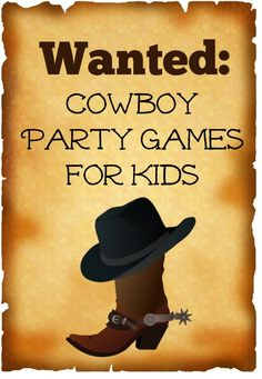 Cowboy Party Games for Kids for Wild West Fun 08a0ef576b1c