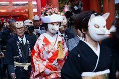 The Kitsune Wedding Procession.