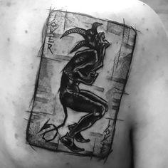 Sketch Style Joker Tattoo Idea