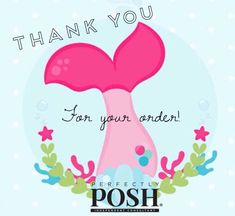 I love to spoil my Perfectly Posh customers! Thank you so much for supporting my small business! Thank You For Order, Perfectly Posh, Business, Vip Group, Independent Consultant, Direct Sales, Dawn, Mermaid, Boards
