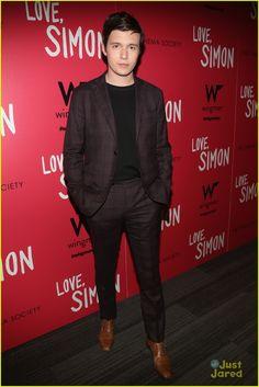 Nick Robinson at the screening of his upcoming film Love, Simon