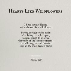 Hearts like wildflowers