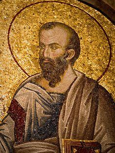 Saint Paul the Apostle Mosaic in Inner Narthex of Chora Church Renaissance Time, Paul The Apostle, Byzantine Art, Byzantine Mosaics, Turkish Art, Orthodox Icons, Sacred Art, Ancient Artifacts, Ancient Romans