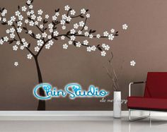 Flower Decal Vinyl Wall Decal Wall Sticker Home by ChinStudio