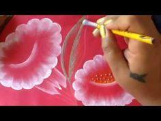 Pintura en tela campanillas blancas con cony - YouTube
