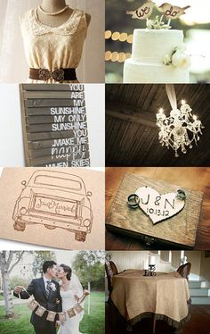 "Rustic Brown Wedding <3 ""We Do"""