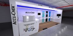 Roche Accu Check Full Custom bespoke exhibit at SEMDSA pharmaceutical conference