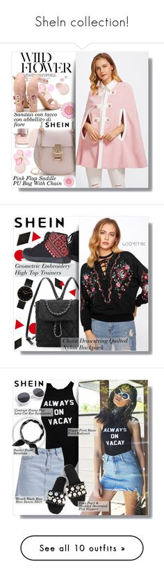 """SheIn collection!"" by clumsy-dreamer ❤ liked on Polyvore featuring Burberry, Topshop, CLUSE, Merola and BOSS Black"