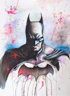 Batman - Watercolor Print @ Splattergeek.com