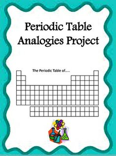 Periodic Table Analogies Project from Simply Scientific on TeachersNotebook.com -  (7 pages)