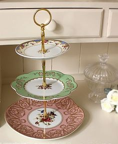 Cookie stand made from thrift store plates. Great for our cookie exchange! & hardware for making cake stands | How to make a 3 tiered Cake stand ...