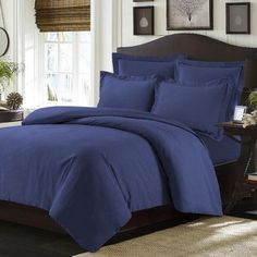 Tribeca Living Valencia Duvet Cover Set Color: Moonlight Blue, Size: King
