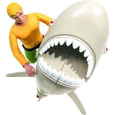 DC Retro Aquaman Vs Great White Shark Playset