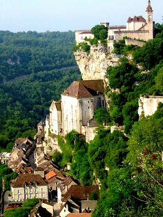 Rocamadour, Dordogne, France. How this place clings to the rocks is quite incredible but continue down not only to the Ardeche but further south to the scenic gorges and craggy but picturesque villages of the Lozere. One such village is Sainte Enimie.  I will endeavour to find a Pin!