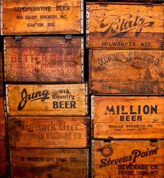 old wood boxes Vintage Wooden Crates, Old Crates, Wooden Boxes, Wine Crates, Cageots Vintage, Vintage Country, Vintage Signs, For Emma Forever Ago, Café Bistro