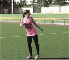 This Girl is Crazy Flexible. Just for creepily high kicks.. flexible,girls,Sexy,cartwheel,gif,GIFs,athletics