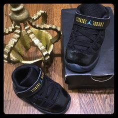 Jordan toddler retro 11 gammas Excellent condition gently used very clean & looks new box not included 100% authentic. Toddler Jordan retro 11 blue gammas Jordan Other
