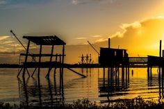 Fisherman huts & sunset by Jean Marc Vaillant on 500px