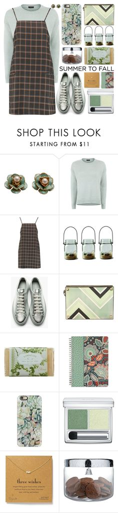 """Summer to Fall Layering"" by barbarela11 ❤ liked on Polyvore featuring Boohoo, Common Projects, Jimmy Choo, K. Hall Designs (Simpatico), Vera Bradley, Casetify, RMK, Dogeared and Alessi"