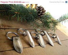 SALE Vintage Silver Spoon Jewelry Key Ring by BirdinHandVTG, $10.36