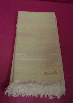 Asciugamani canapa doppia riga bianca. 65x65 (7) B12 Hemp Towel Serviette