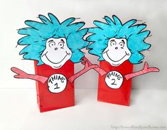 Thing 1 Thing 2 Dr. Seuss Party Favors (Treat Bags) - Love of Family & Home