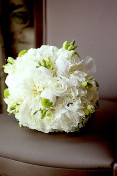 White and green bouquet.Photography courtesy of Gemini Photography