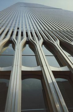 The World Trade Center. New York City, New York. Minoru Yamaski & Associates. Designed in 60s. Completed in 1973