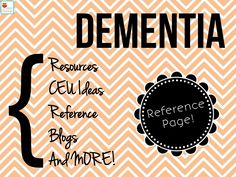 Speechy Musings: A resource page on dementia! Check it out and submit your own favorite resources!