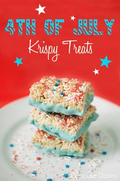 4th of July Krispy Treats