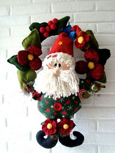 Papai Noel Florista by Ellem Tutto a Mano, via Flickr
