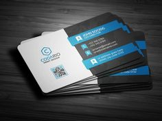 Modern Corporate Business Cards by Galaxiya on @creativemarket