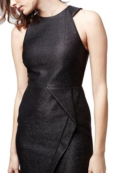 sleeveless Topshop wrap front dress