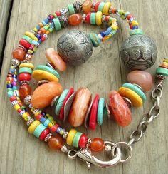 Boho Necklace, Sundance Style, Turquoise Jewelry, Southwest.