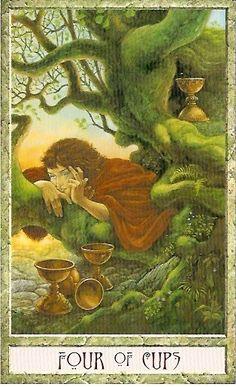 druidcraft tarot four of cups - Pesquisa Google