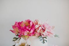 peony + dahlia Afloral - they're silk!