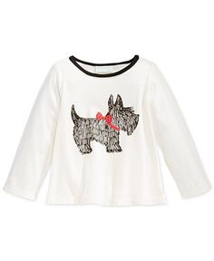 Carter/'s Infant Girls/' White Sweater with Scottie Dog NWT scotties scotty dogs