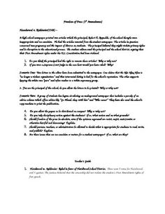 This graphic organizer allows students and teachers to discuss the ...