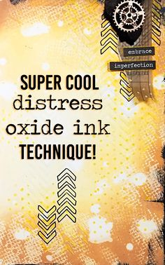 Super Cool Distress Oxide Ink Technique!!!! | Mixed Media Art Journal With Me