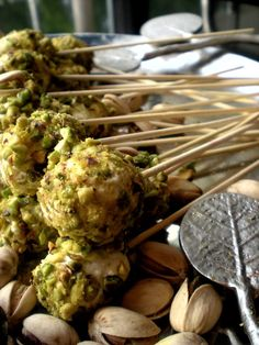 Goat cheese Lollipops for the cheese tray