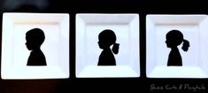 Silhouettes on Plates