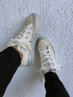 280a4c81 Rhinestone Bling Sneakers www.tiffanychimere.com Tiffany, Celebrity Shoes,  Converse, Bling