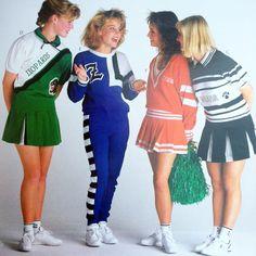 1980s Dehen cheerleaders